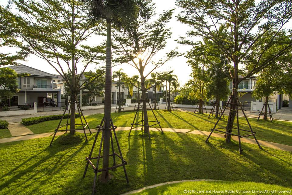สวนสวย โครงการบ้านแลนด์ แอนด์ เฮ้าส์